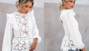 1 1 6 Blusas blancas y elegantes que no pueden faltar en tu armario
