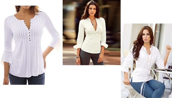 4 6 Blusas blancas y elegantes que no pueden faltar en tu armario
