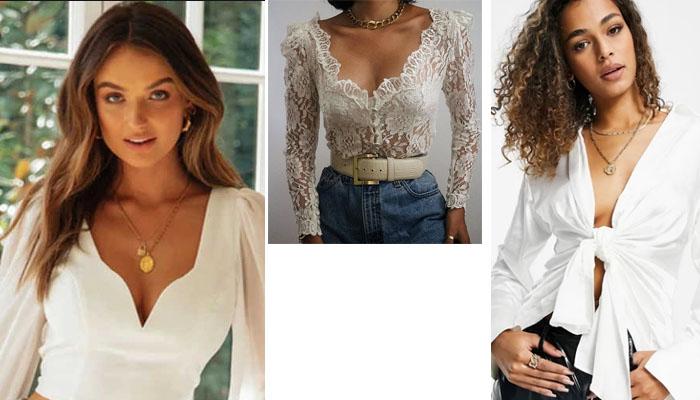 7 6 Blusas blancas y elegantes que no pueden faltar en tu armario