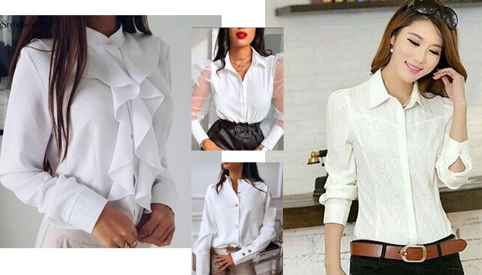 9 6 Blusas blancas y elegantes que no pueden faltar en tu armario