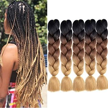 ombre 8 Looks con Trenzas africanas de colores a la moda